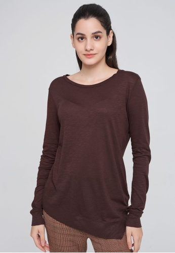 Sisley brown Long Sleeve T-shirt 415F9AA8C84C5DGS_1