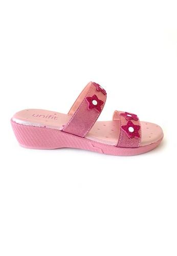 Unifit pink Glittering Star Kids Girls Wedge 5A092KSBD254B3GS_1