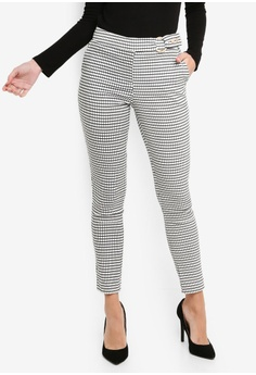 6a848a424c688 FORCAST white Helen Buckled Pants 77832AAAEED4CCGS 1
