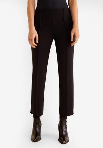 Mango black Rhinestone Detail Trousers E41E4AA1144A0EGS_1