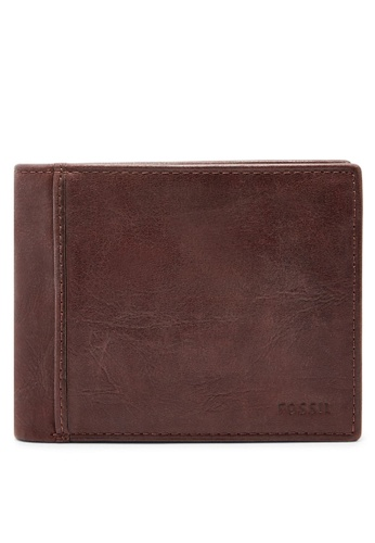Fossil brown Fossil Ingram RFID Large Coin Pocket Bifold Wallet ML3781200 FO164AC89CEKMY_1