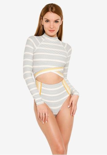 Rip Curl gold Salty Daze Good Long Sleeve One Piece Swimsuit 650E9US02ECFDBGS_1