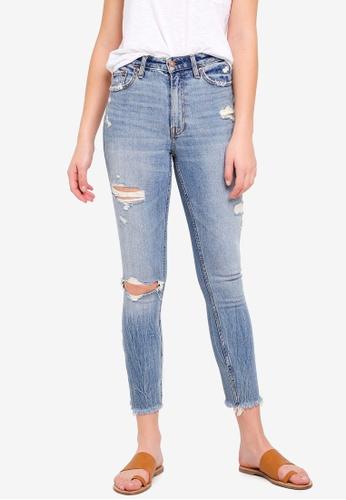 Abercrombie & Fitch blue Medium Destroy Simone Slim Jeans 6F19EAA312B7C6GS_1