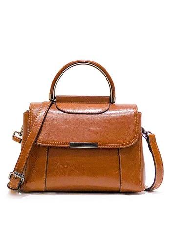 Twenty Eight Shoes brown VANSA Cow Leather Crossbody Bag VBW-Cb2176 24195AC55E9A4EGS_1