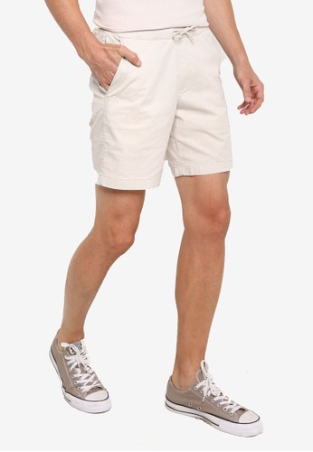 Abercrombie & Fitch beige Ribbed Waist Shorts 66C1FAA3FD6EE5GS_1
