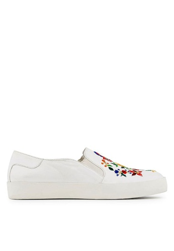 Minelli white F51 006 Floral Embroidered Slip-on Sneakers - Yaele MI352SH93YKKSG_1