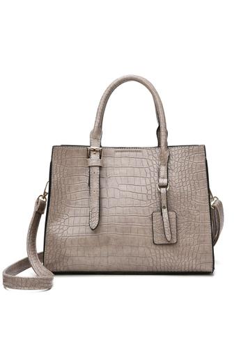Twenty Eight Shoes Stylish Crocodile Texture Leather Tote Bag DP8090 09733AC95FA084GS_1