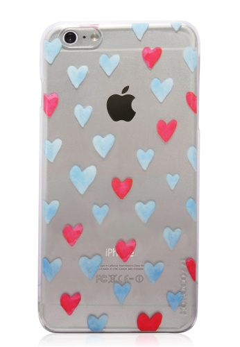 Monocozzi red and blue and  Pattern Lab Hard Shell Transparent Patterned Case For iPhone 6 Plus MO983AC84BWHHK_1