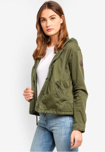 Hollister green Twill Shirt Jacket FB9B1AAD4B7F4DGS_1