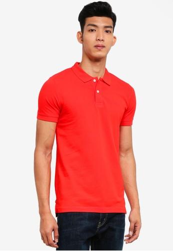 ESPRIT 紅色 短袖POLO衫 7EB30AA160EAF3GS_1