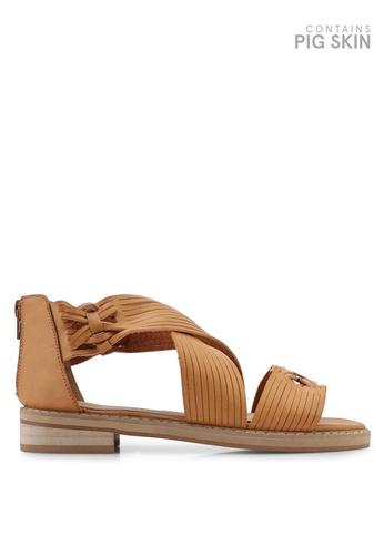 VANESSA WU brown Miya Sandals 72A87SH049C58BGS_1