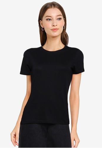 OVS black Crew Neck T-Shirt 91C52AAA219093GS_1