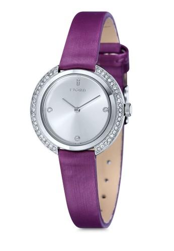 AGNIS水鑽皮革圓錶, 錶類, esprit hk store飾品配件