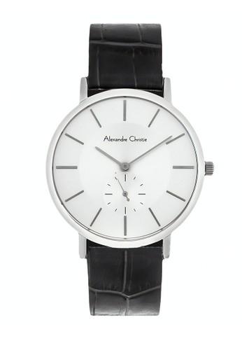 Alexandre Christie black Alexandre Christie Jam Tangan Wanita - Black Silver White - Leather Strap - 8575 LSLSSSL 6595EAC91FEDB5GS_1