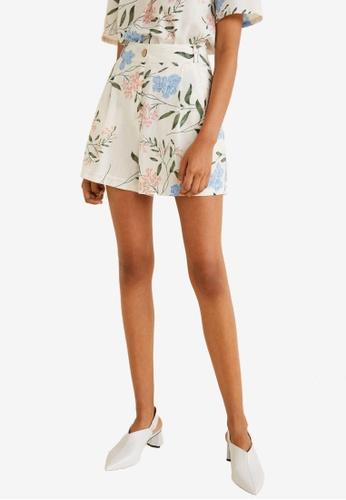 Mango white Cotton Striped Shorts BBA51AA2905786GS_1