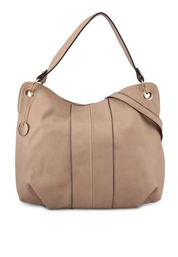 Perllini&Mel beige Faux Leather Single Handle Bag PE444AC0SBLAMY_1