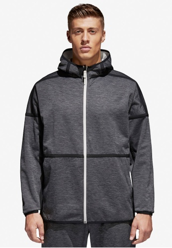 adidas black adidas m zne reversible hoodie AD372AA0SUHRMY_1