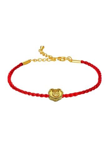LITZ gold [SPECIAL] LITZ 999 (24K) Gold Ru Yi With Bracelet 福字如意锁手绳 EPC0976-B-R(0.13g+/-) D3974ACED7BF86GS_1