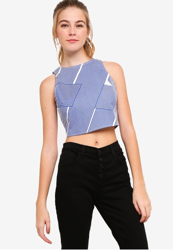 Something Borrowed blue Fitted Crop Top 7E3B5AA534525DGS_1