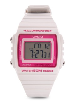 Digtal Watch W-215H-7A2-WHITE/PINK-V&V