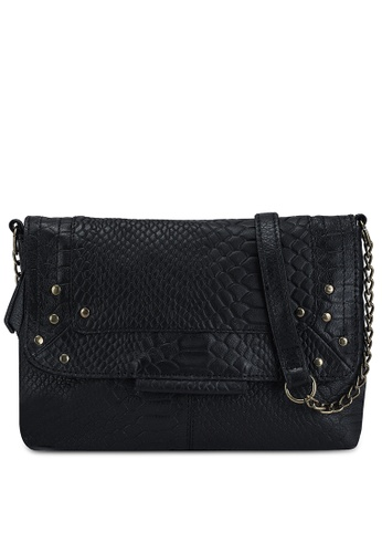 Pieces black Felizia Leather Crossbody Bag E3E3EAC39A6AB0GS_1