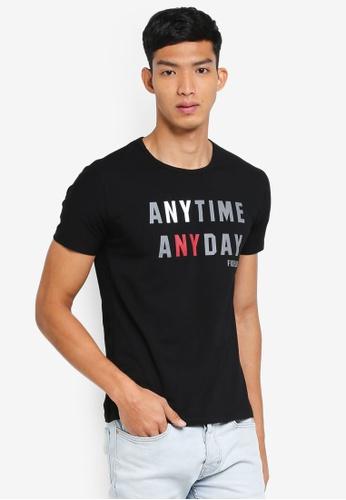 Fidelio 黑色 短袖印花T恤 14FBBAAC6D83D3GS_1