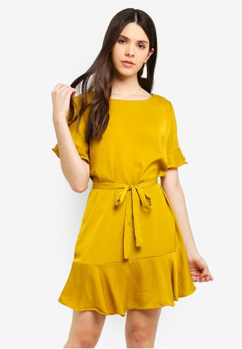 2e82b0877a5 Shop Cotton On Woven Satin Crew Tea Dress Online on ZALORA Philippines