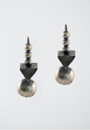 Aadyaa Singapore silver Silver 3D Earrings EA61BAC11EC64BGS_1