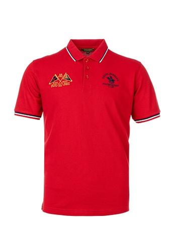 Santa Barbara Polo & Racquet Club red SBPRC Regular Polo Shirt 10-9312-64 C3475AA4F6AAADGS_1