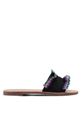 Something Borrowed black Rainbow Sandals 112F2SHB84199DGS_1