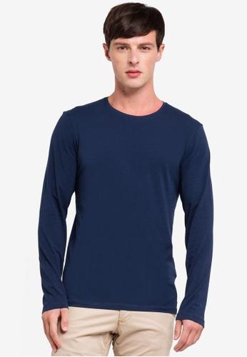 ESPRIT 海軍藍色 長袖T恤 8DF19AAD59D4C3GS_1