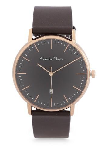 Alexandre Christie brown Alexandre Christie Jam Tangan Pria - Brown Rosegold Black - Leather Strap - 8420 MDLRGBA  CA813AC3E60227GS_1