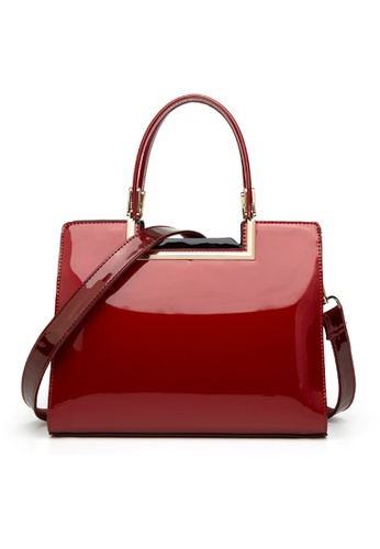 Twenty Eight Shoes 紅色 VANSA 經典漆皮手挽袋 VBW-Hb59 FF059AC87B5E34GS_1
