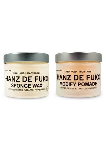Hanz de Fuko Hanz de Fuko Modify Pomade and Sponge Wax Set HA369BE99NKISG_1