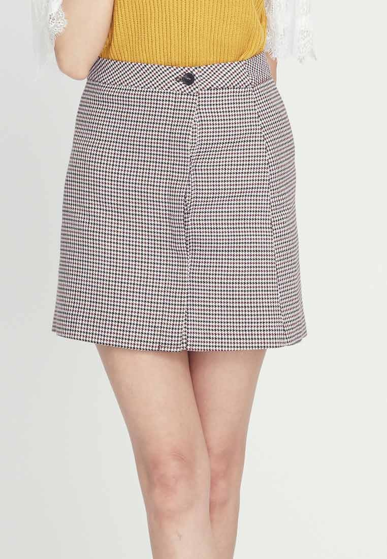 CONNECT Biocolor Houndstooth Multi Skirt H d5w4qv51