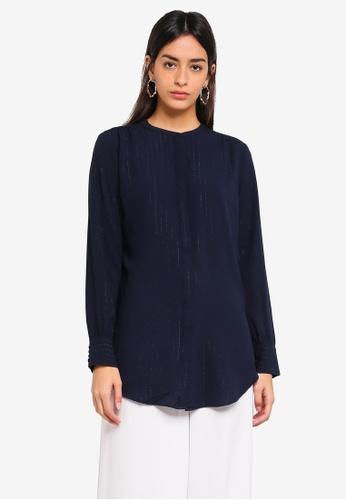 Modstrom navy Jeffrey Shirt 18A50AA07ABE97GS_1