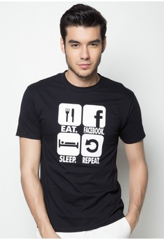 Eat Facebook Sleep Repeat T-shirt