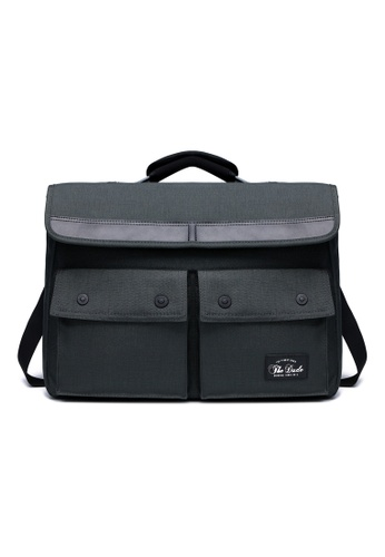The Dude grey Spirit Briefcase TH373AC28URRHK_1