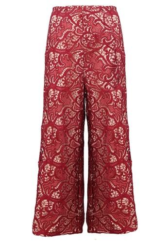 POPLOOK red Rickmal Lace Pants 5F731AA30B6912GS_1