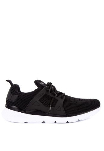 Fila black Wave Lite Running Shoes 01B83SHFFC76F5GS_1