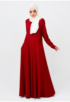 28f6bac36f2 Imaan Boutique red Linear Dress Ruby Red AC9D2AA8A486D1GS 1