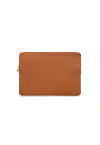 "Knocks brown 13.3"" Slim Laptop Sleeve Brown 40377ACBCBE734GS_1"