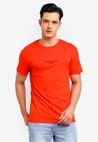 Jack & Jones red Citizan T-Shirt 35952AAEC971B3GS_1
