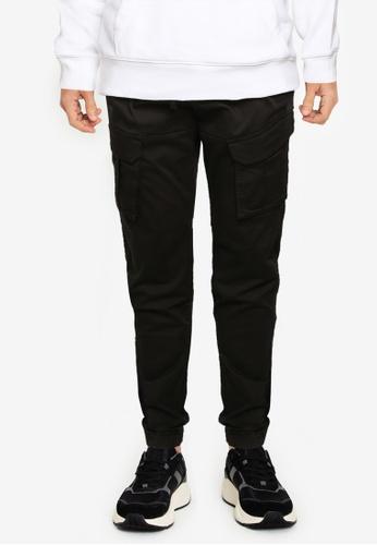 Hollister black Skinny Jogger Pants 888F6AAD862892GS_1