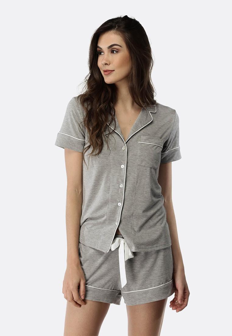 Set Grey Shorts Deshabille Marle PJ Manor IqAx5xtw