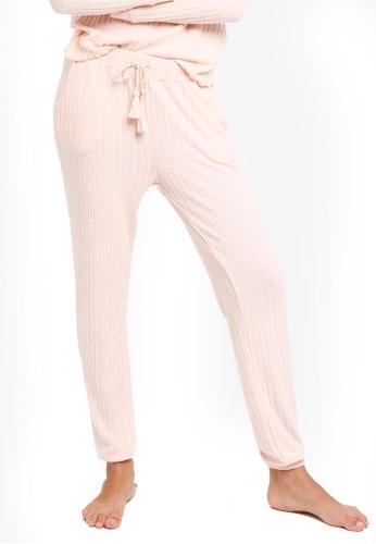 Dorothy Perkins pink Pink Ribbed Jogger EF223AA3283C26GS_1