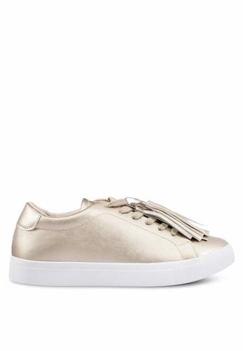ZALORA gold Tassel Sneakers 9008ESH4922A3BGS_1