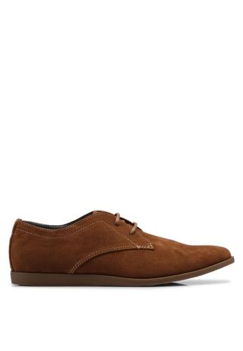 Topman brown Tan Faux Suede Slate Desert Shoes 1A383SH02F9E81GS_1