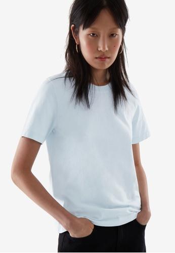 COS blue Regular Fit T-Shirt 15161AA296B7DBGS_1