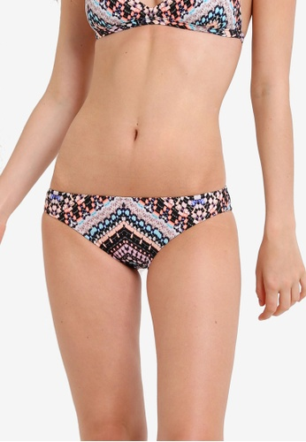 Seafolly black and multi Indian Summer Black Hipster Bikini Bottom SE198US0RKCWMY_1
